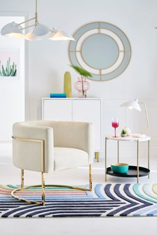 Mae Accent Chair With Gold Finish Legs