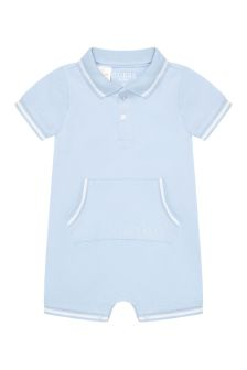 Guess Baby Boys Blue Cotton Shortie
