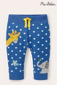 Boden Blue Appliqué Jersey Leggings
