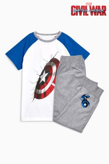 Captain America Pyjamas (3-12mths)