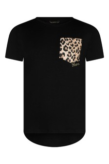 Girls Leopard Print Viscose Top