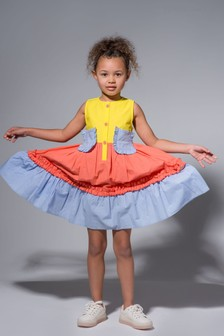 Angel & Rocket Yellow Tiered Dress