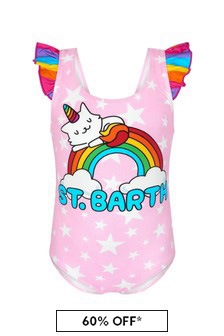 MC2 Saint Barth Girls Pink Swimsuit