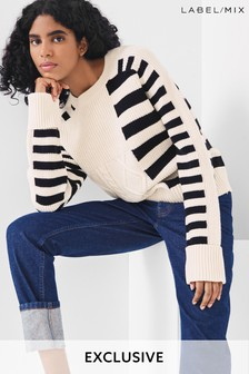 Mix/YAITTE Cable Stripe Jumper