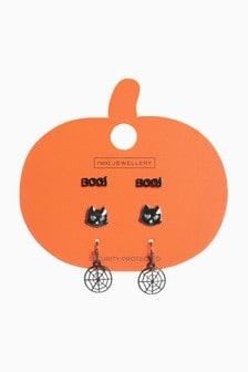 Halloween Cat Earrings 3 Pack