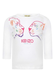 Girls White Jersey Long Sleeve T-Shirt