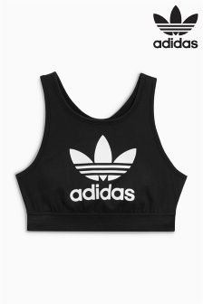 adidas Originals Black Trefoil Bra Top