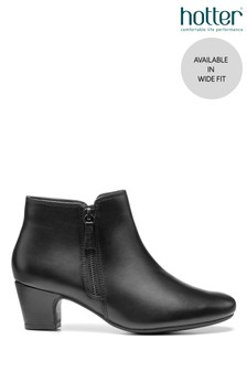 Hotter Delight II Wide Fit Zip Fastening Ankle Boots