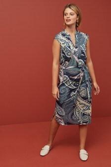 Belted Pocket Front Dress