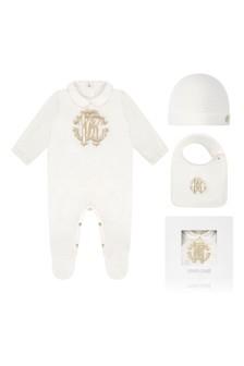 Ivory Cotton Babygrow Gift Set