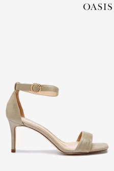 Oasis Gold Open Toe Sandals