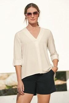 Turn-Up Sleeve Shirt