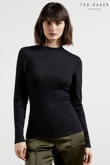 Ted Baker Stormie Long Sleeve Ribbed Top
