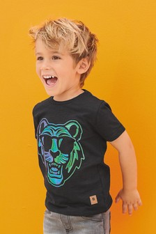 Organic Cotton Foil Tiger T-Shirt (3mths-7yrs)
