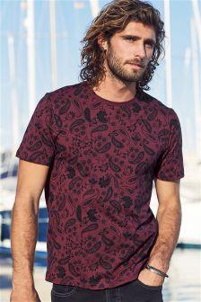 Paisley Print T-Shirt