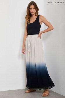 Mint Velvet Indigo Dip Dye Maxi Skirt