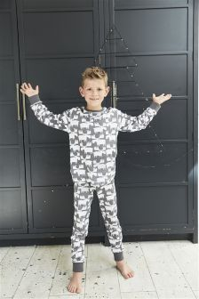 Moose Print Cotton Pyjamas (0mths-16yrs)