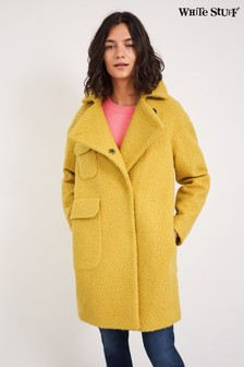 White Stuff Yellow Jude Boucle Coat
