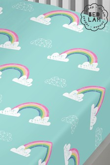Rainbow Unicorn Fitted Sheet by Bedlam