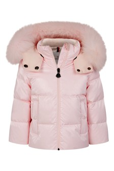 Baby Girls Pink Down Padded Brianne Jacket