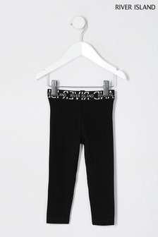 River Island Black Waistband Leggings