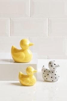 סט של 3 ברווזים מקרמיקה