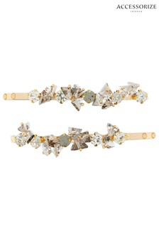 Accessorize Crystal Gem Hair Slides