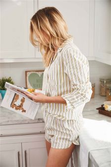 Stripe Button Through Pyjamas