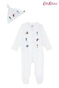 Cath Kidston® Cream Desert Cowboy Sleepsuit And Hat Set