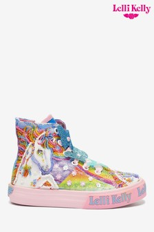 Lelli Kelly Sequin Unicorn Hi Top Trainers