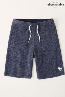 Abercrombie & Fitch Tie Waist Fleece Shorts