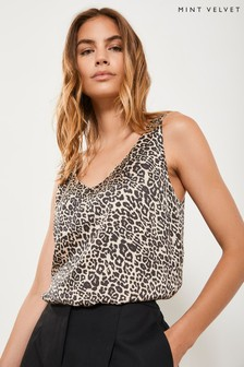 Mint Velvet Animal Philippa Leopard Satin Cami