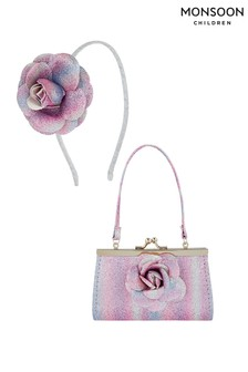 Monsoon Treasured Flower Mini Bag & Hairband Set