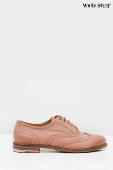 White Stuff Pink Brogue Lace-Up Shoes