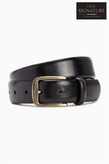 Cinturón de vestir en colaboración con la marca de cuero italiano