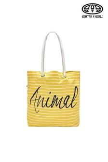 Animal Yellow Beachin Shopper