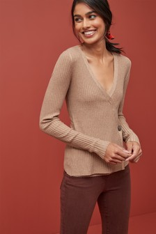 Rib Wrap Jumper
