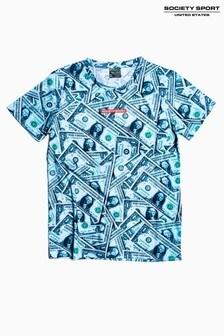 Society Sport Kids Green Cash T-Shirt