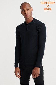 Superdry Edit Merino Long Sleeve Poloshirt