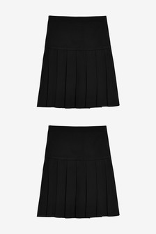 2 Pack Slim Fit Pleat Skirts (3-16yrs)