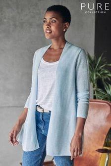Pure Collection Blue Gassato Swing Cardigan