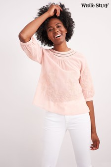White Stuff Pink Emi Top