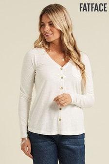 FatFace Ivory Sylvia Plain T-Shirt