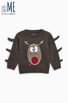 Рождественский джемпер с оленем Рудольфом для мальчиков (3 мес.-6 лет)