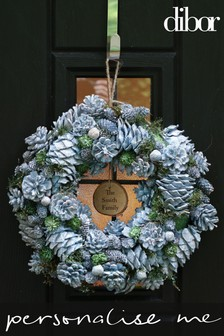 Personalised Blueberry Sparkle Wreath by Dibor