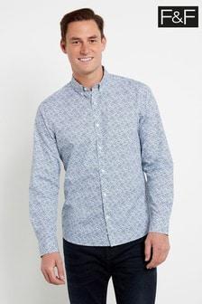F&F White Paisley Shirt