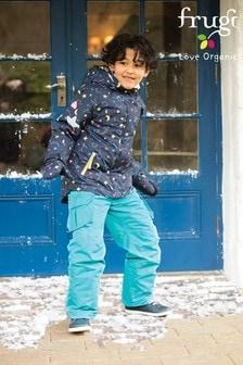 Frugi Blue Recycled Ski Salopettes