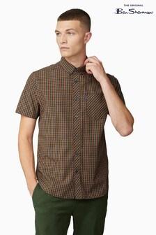 Ben Sherman Gold Short Sleeve Signature House Check Shirt