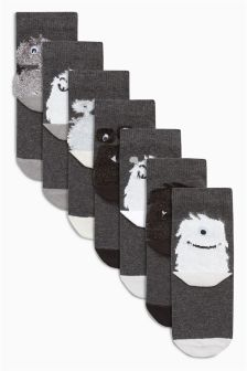 Monster Socks Seven Pack (Younger)