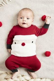 Santa针织连衣裤 (0个月-2岁)